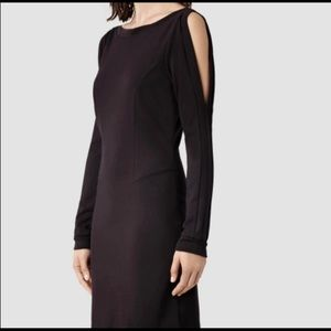 NWT All Saints Emelle dress 4 Liquorice